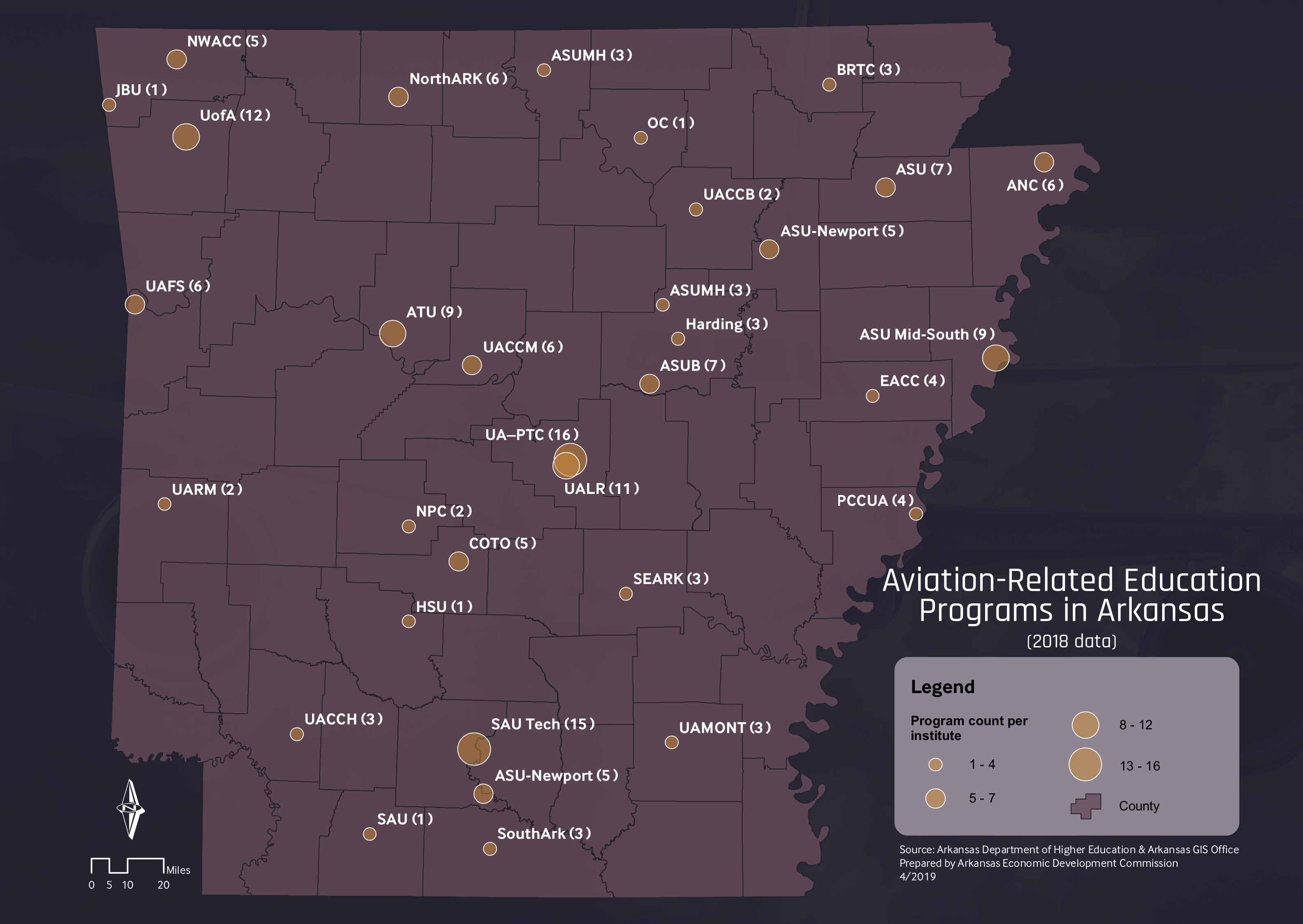 aviation related education programs in AR