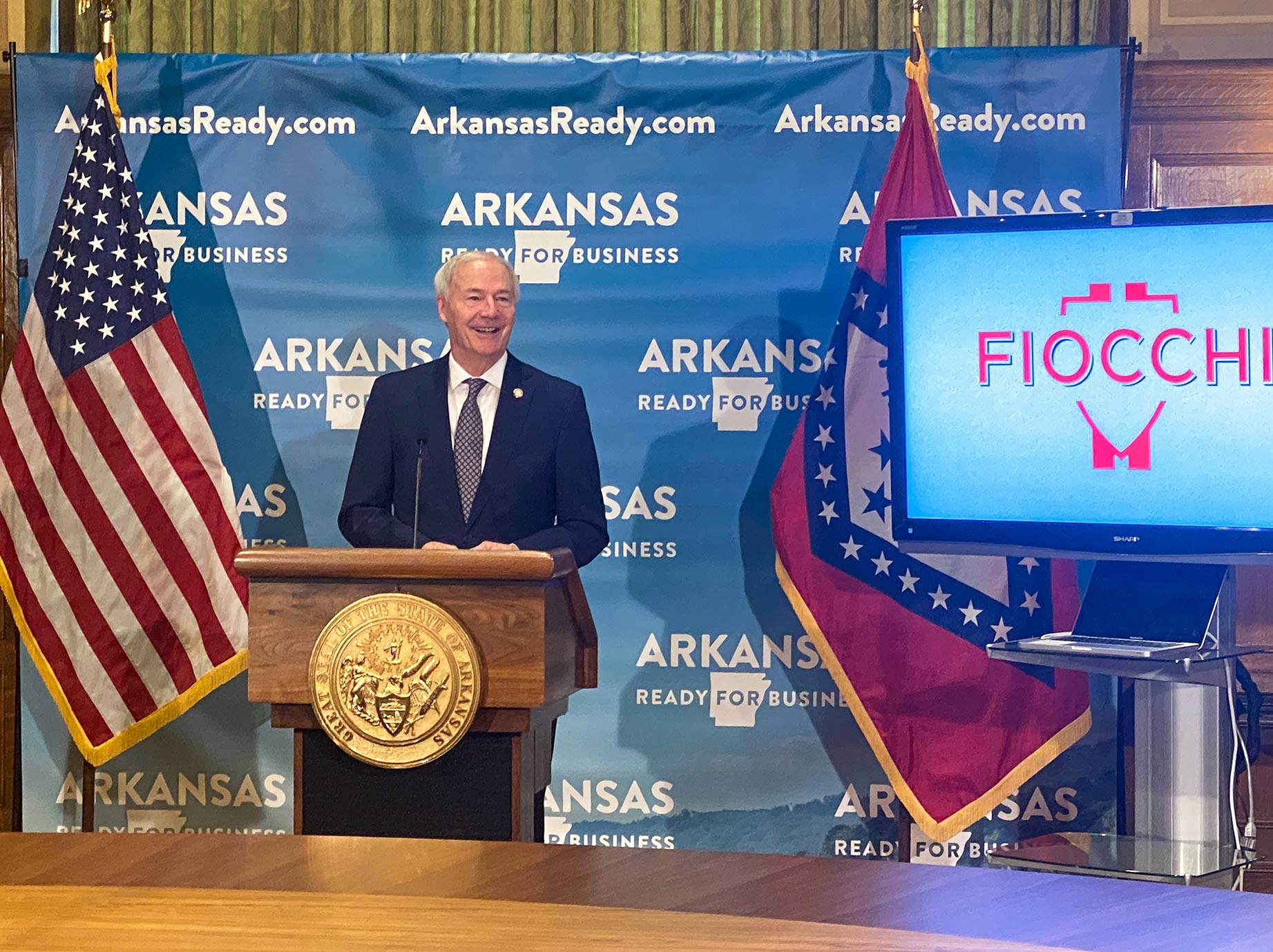 Governor Hutchinson at Fiocchi announcement