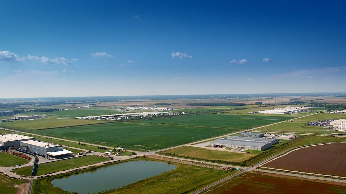 Aerial view of Jonesboro site