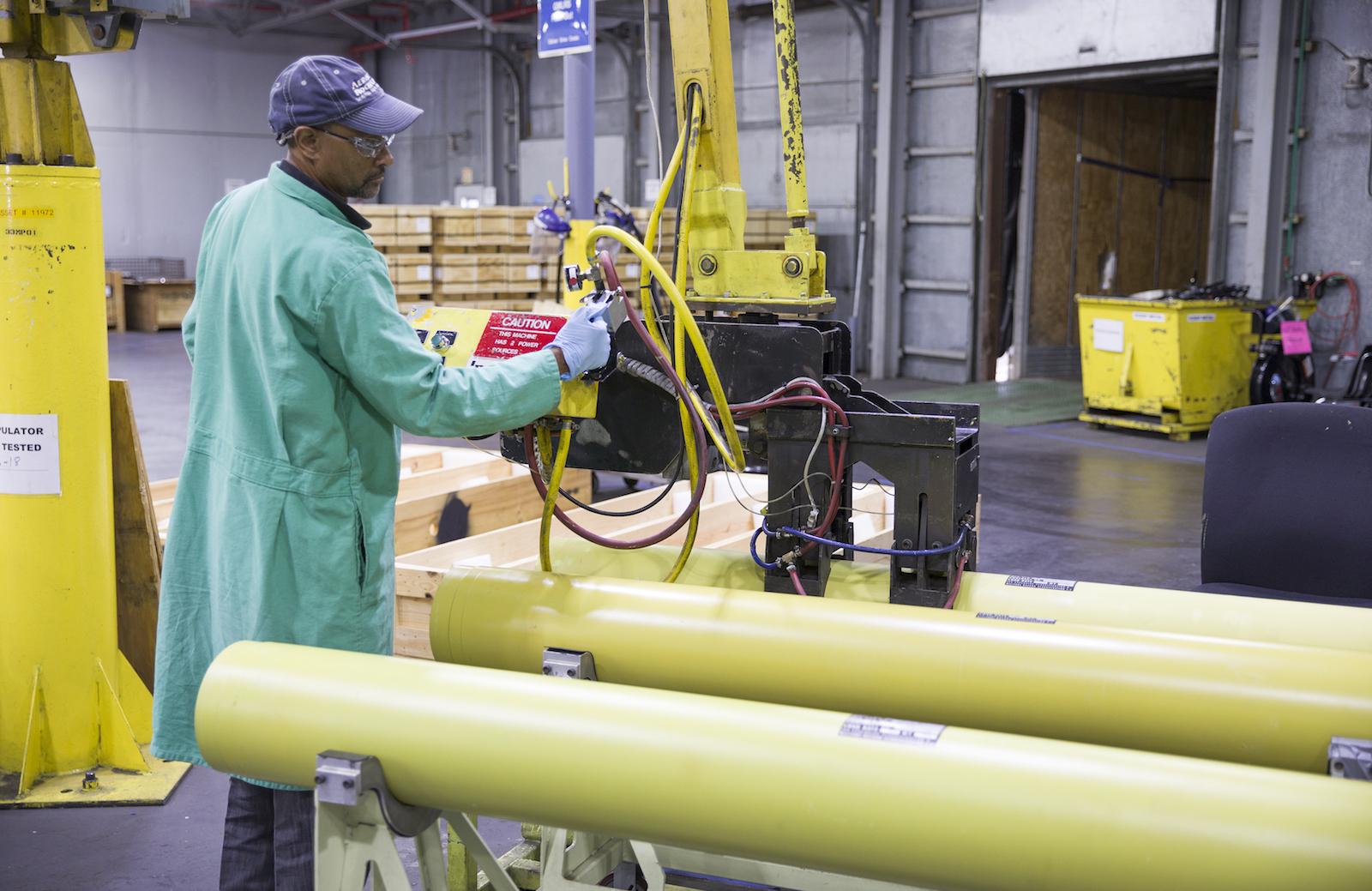 A man working at Aerojet Rocketdyne.