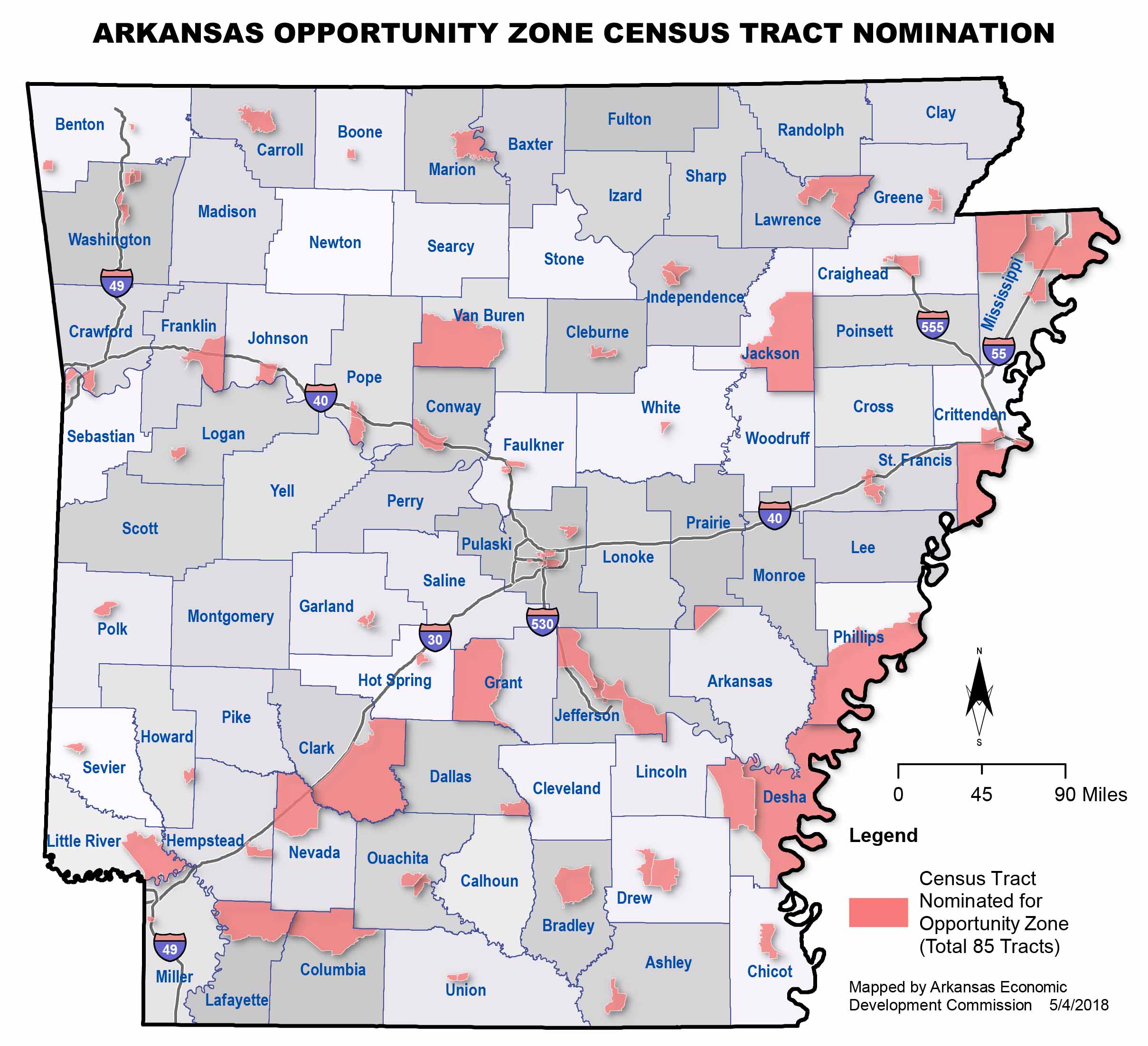 Governor Hutchinson names 85 Opportunity Zones