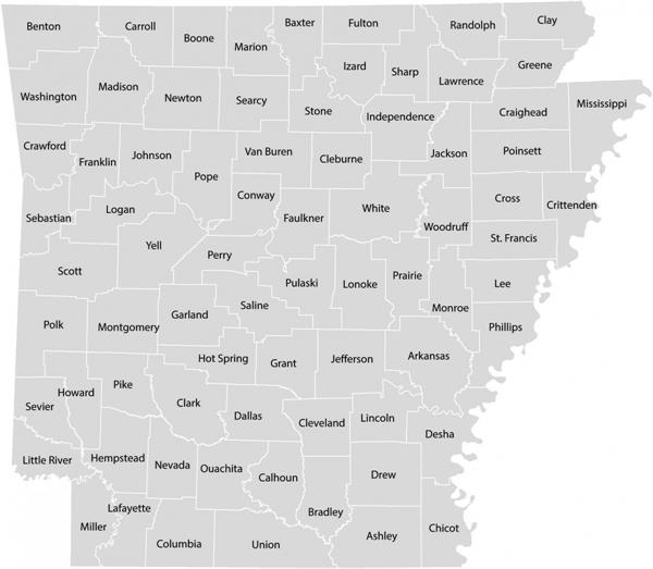 Counties in Arkansas